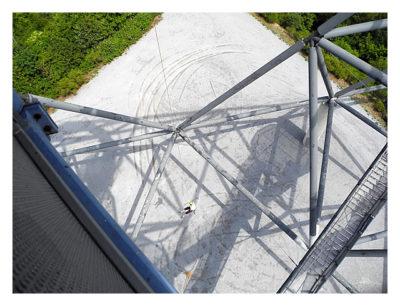 Tetraeder - Blick von oben