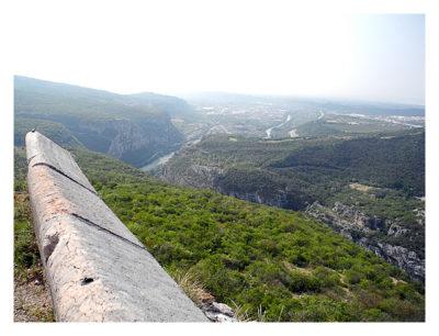 Forte Monte (Mollinary): Der Blick von oben in das Etsch-Tal