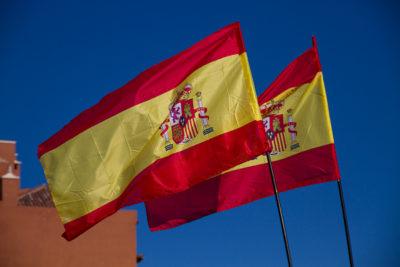 Spanische Fahnen von Teneriffa