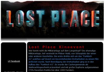 Das Listing vom Lost Place Kinoevent