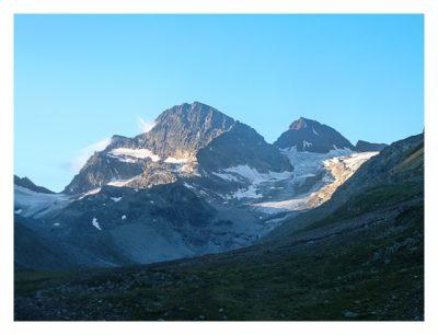 Blick auf den Piz Buin bei T5-Geocaching-Tour Silvretta