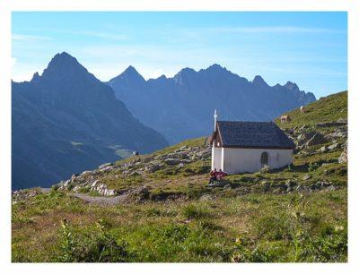 Geocaching in der Silvretta - Kapelle an der Hütte