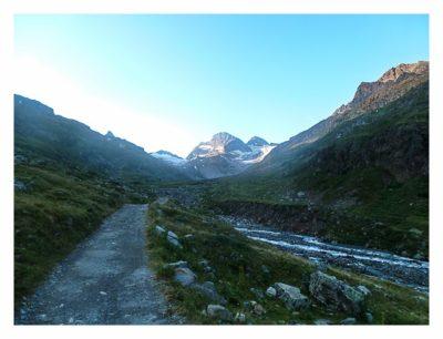 Geocaching in der Silvretta - Piz Buin am frühen Morgen