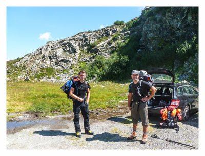 Geocaching in der Silvretta - am Parkplatz