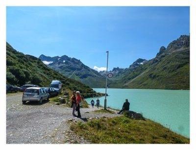 Geocaching in der Silvretta - erster Blick in die Berge