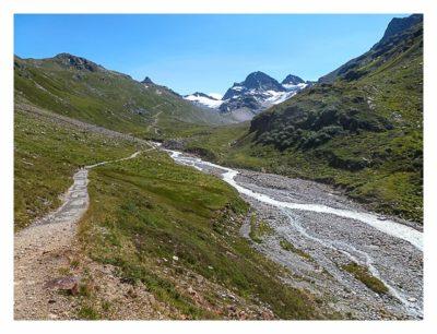 Geocaching in der Silvretta - der Weg zur Hütte