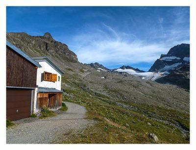 Geocaching in der Silvretta - Blick Richtung Vermuntgletscher