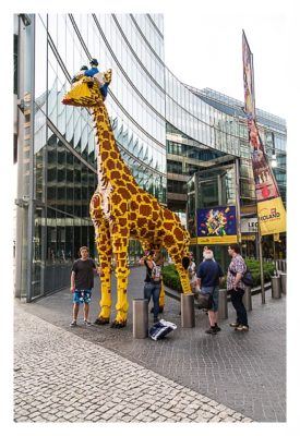 Die Lego-Giraffe in Berlin - der deutsche Geocache mit den meisten Favoritenpunkten