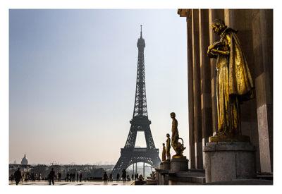 Paris mit Blick vom Trocadero auf den Eifelturm
