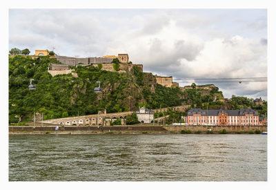 Die Festung Ehrenbreitstei bei Koblenz - hier fand das Mega statt