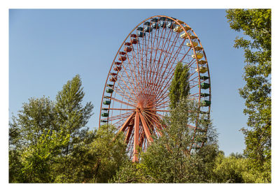 Altes Riesenrad im Spreepark in Berlin, Location des Megaevents