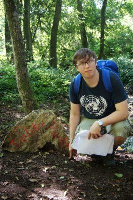 """Martin von dem Geocaching-Team """"Die Geocräsher"""", den ich hier im Interview habe..."""