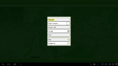 Installation Offline-Karte in Cachebox Geocaching App - Kartenmenü