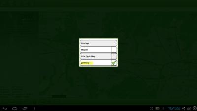 Installation Offline-Karte in Cachebox Geocaching App - Anzeige der verfügbaren Karten