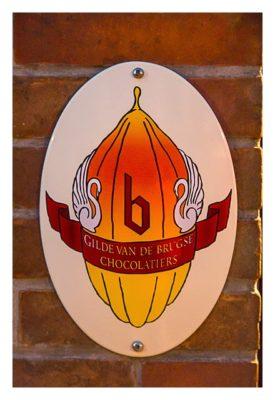 Logo der Schokoladenmacherguilde in Brügge