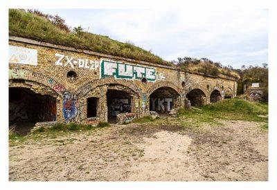 LP: Atlantikwall - MKB Malo Terminus - gemauerte Gebäude im Fort