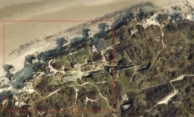 LP: Atlantikwall - MKB Malo Terminus - Google Earth Überblick über die Stellung