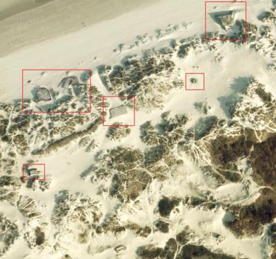 Atlantikwall - Stp Adolf - Google Earth Ansicht der Stellung
