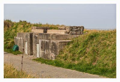 LP: Atlantikwall - Stp Tirpitz (Museum Raversyde) - Eingang zu einer Geschützbettung