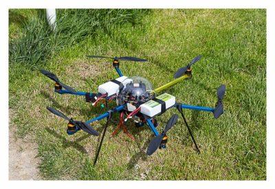 Mega Switzerland - Quadcopter am Boden