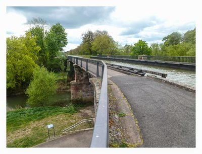 Radtour von Saarbrücken nach Straßburg: Kanalbrücke Saaralbe