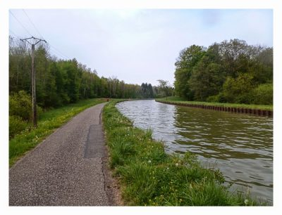 Radtour von Saarbrücken nach Straßburg: am Kanal