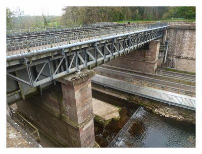 Radtour von Saarbrücken nach Straßburg: Eine weitere Kanalbrücke