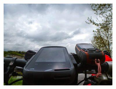 Radtour von Saarbrücken nach Straßburg: Die beiden GPSe am Lenker