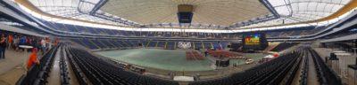 Big Äppel - Ein Tag davor - Panorama von der Arena