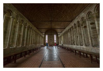 Mont Saint Michel - Der Speisesaal der Mönche