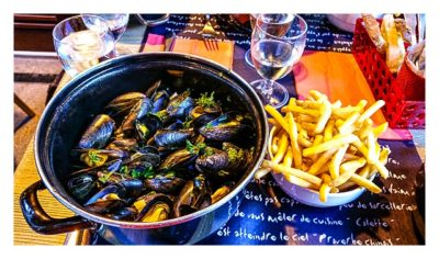 Saint Malo - Geocaching in historischer Kulisse - Moules frites