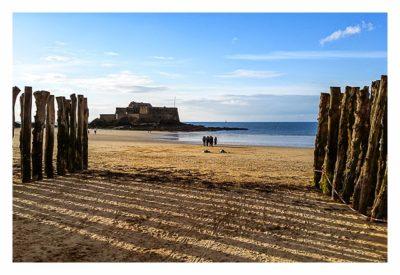 Saint Malo - Geocaching in historischer Kulisse - Fort Nationale bei Ebbe