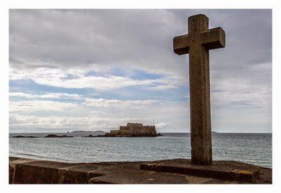 Saint Malo - Geocaching in historischer Kulisse - Blick auf das Fort Nationale