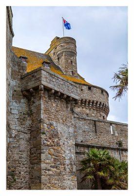 Saint Malo - Geocaching in historischer Kulisse - Festungsmauer der Burg