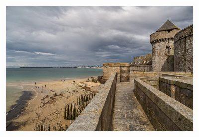 Saint Malo - Geocaching in historischer Kulisse - Blick von der Stadtmauer