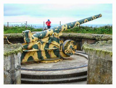 Guernsey - HKB Dollmann - 22cm geschütz Nahaufnahme