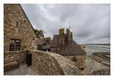 Mont Saint Michel - Auf den Mauern