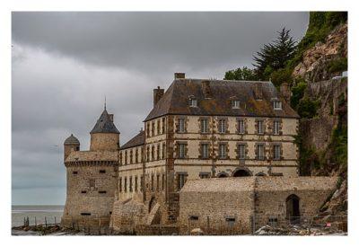 Mont Saint Michel - Die Stadtmauer