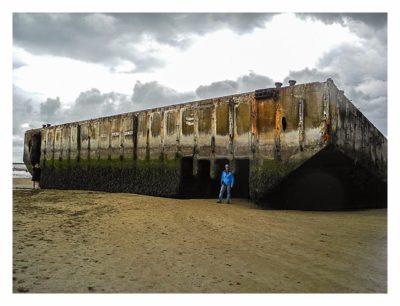 Östliche Landungsstrände - Arromanches - Ein Teil des Hafens