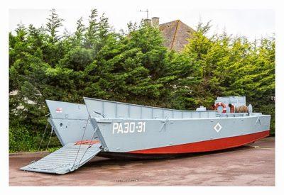 Östliche Landungsstrände - Sword Beach - Landungsboot aus dem Film Der Soldat James Ryan