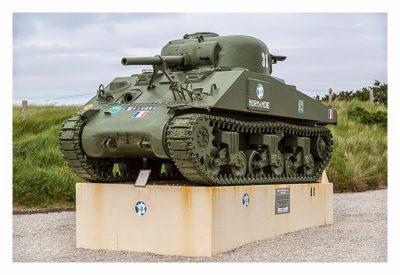 Westliche Landungsstrände - Denkmal Sherman Panzer