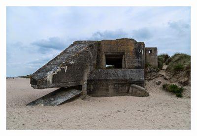 Westliche Landungsstrände - WN10 Bunker für Feldgeschütz