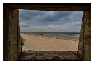 Westliche Landungsstrände - WN10 Blick aus dem Bunker