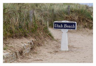 Westliche Landungsstrände - Utah Beach Schild