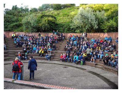 11. Geocaching-Meisterschaft - Die Siegerehrung im Amphitheater