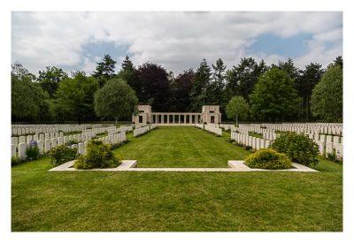 Geocaching in Flandern - The Great War Event - Soldatenfriedhof im Polygonwald