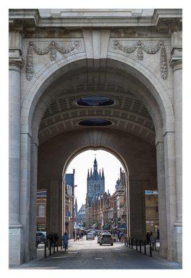 Geocaching in Flandern - Ypern - Blick in die Stadt