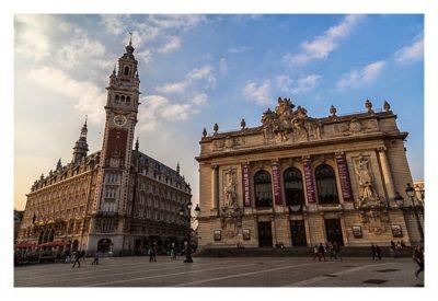 Geocaching in Flandern - Lille - Industrie- und Handelskammer und Oper