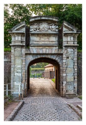 Geocaching in Flandern - Lille - erstes Tor der Zitadelle