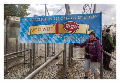 Giga München - Willkommensbanner
